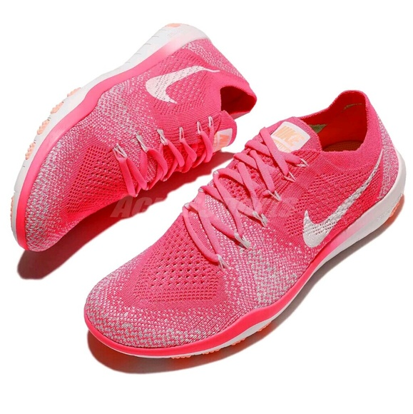 the latest fda2e 6e504 NWT Nike Free Focus Flyknit 2 Racer Pink Trainer
